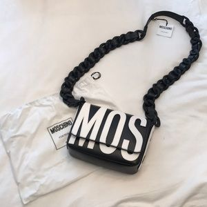 Moschino black/white crossbody BNWT